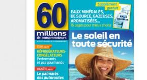 crème solaire, 60 millions de consommateurs, produit solaire, protecteur solaire