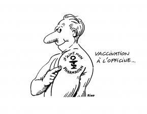 Pharmacien, aiguille, vaccin, senior
