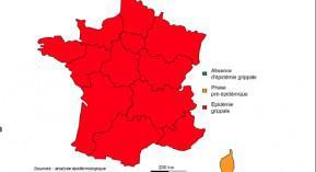 Grippe, épidémie, France, InVs, virus grippal