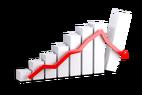 courbes, graphiques, flèches, tendances