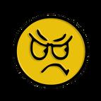 colère, déception, visage