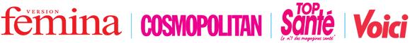 Presse féminine : Femina   Cosmopolitan   Top Santé   Voici