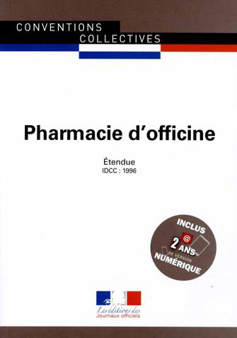 Convention collective pharmacie d'officine